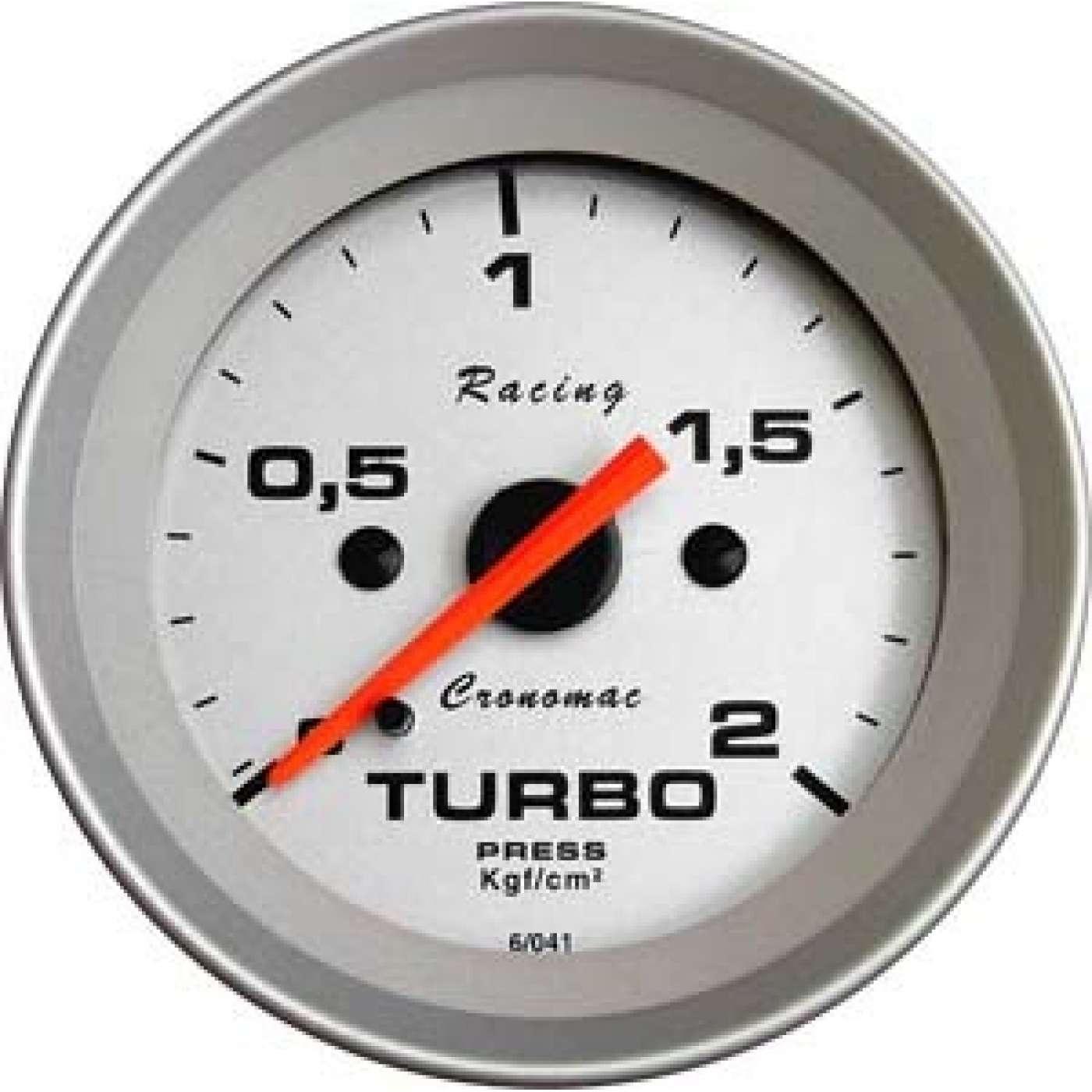 Manômetro pressão turbo cronomac 52mm
